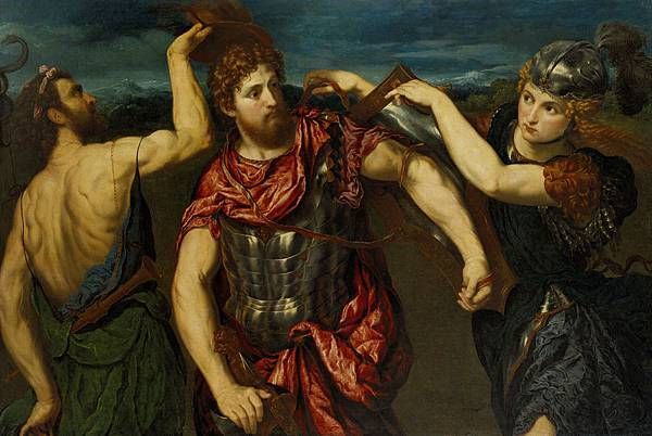 Perseus_Armed_by_Mercury_and_Minerva_by_Paris_Bordone_-_1555