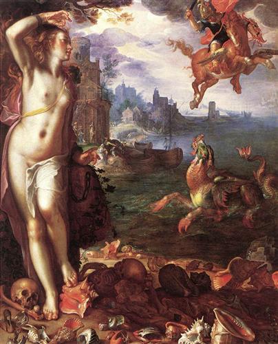 perseus-rescuing-andromeda-Joachim Wtewael-1611