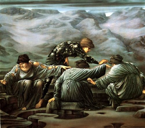 perseus-and-the-graiae.Edward Burne-Jones