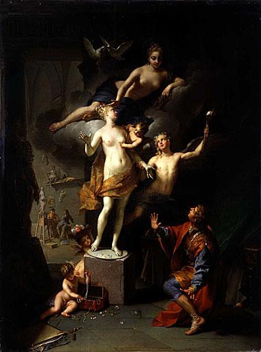 Pygmalion amoureux de sa statue, Jean Raous, 1717.jpg