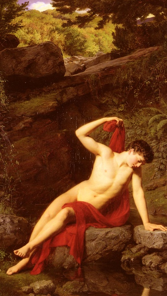 Narcissus by Adolf Joseph Grass (1867)