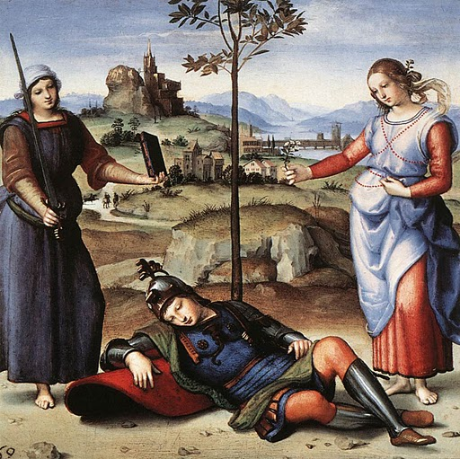 Raphael, Allegory (The Knight's Dream) 1504.jpg