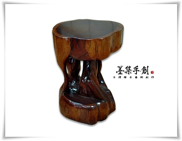 花梨木椅凳-尺寸約直徑32高42cm-墨集手創-110903-2.jpg