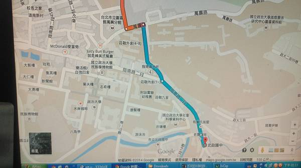秀朗路2段->萬壽路->指南路2段->指南路三段33巷口