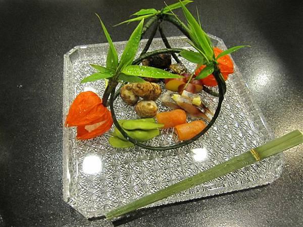 在米其林二星店桜田的晚餐 只拍了這張照