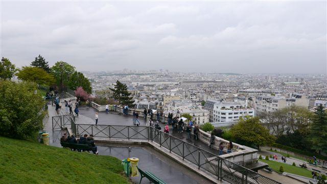 高處遠眺巴黎市景