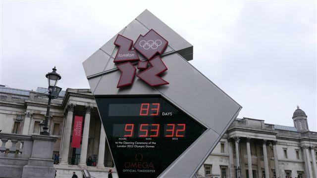 Trafalgar Square 的奧運倒數器