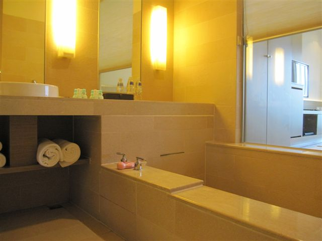 浴室, 浴缸的深度還不錯