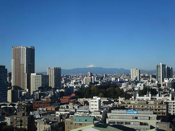 最後一天早晨,晴天看到的富士山
