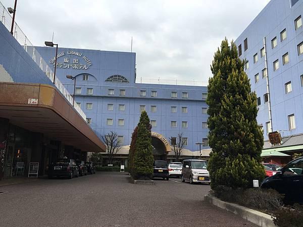 坂出Grand Hotel門口
