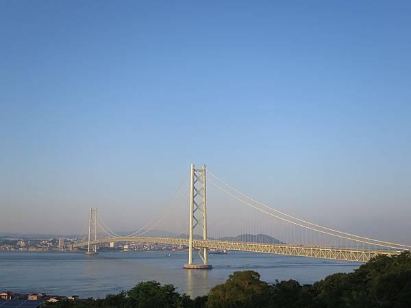 黃昏的明石大橋