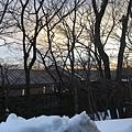 黃昏的雪景