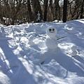 昨天做的三個雪人還在