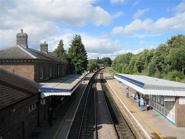 Abergavenny的小車站