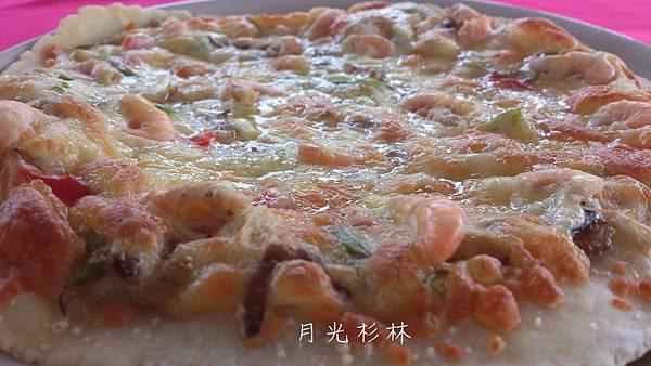 溪蝦披薩2