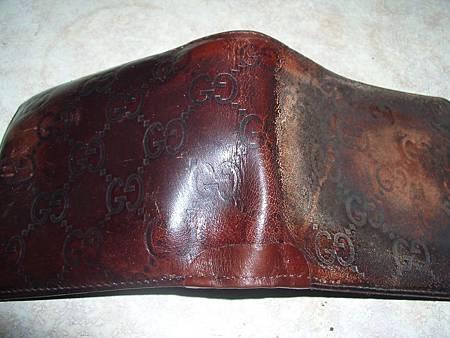 皮夾上下中央包邊磨損的修補