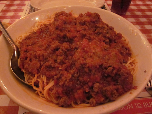 超大碗+超大顆肉圓子義大利麵