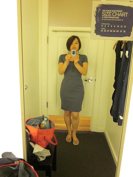 試穿Banana Republic的洋裝 - USD 35 (原價 USD 130! )