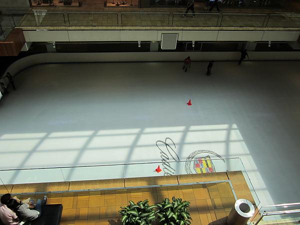 Galleria Mall (大型的百貨公司)中的溜冰場