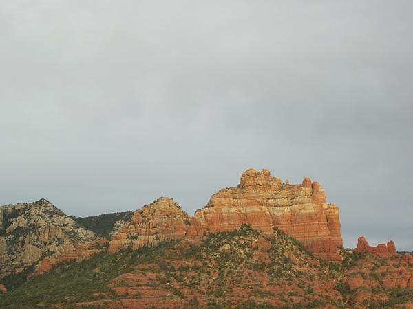 夕陽西下的大岩石群