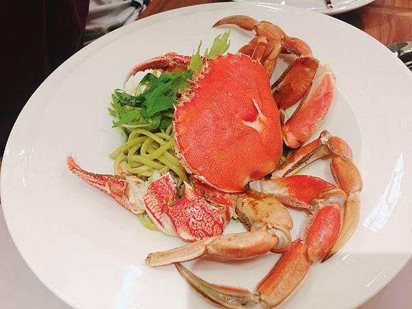 20161112 朵頤排餐_整隻螃蟹青醬麵(牛蟳蟹)