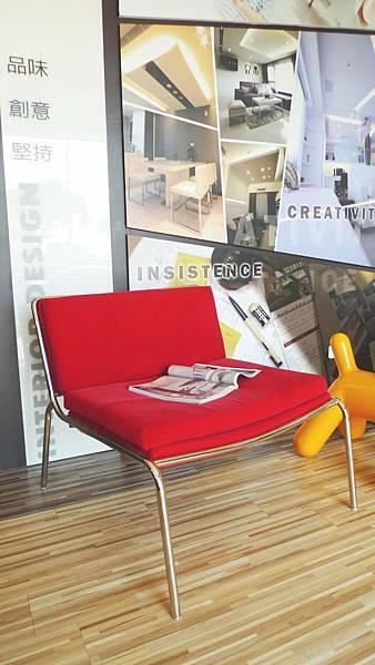 美式休閒單椅-絨布+高密度泡棉+不鏽鋼鐵管(紅色).jpg