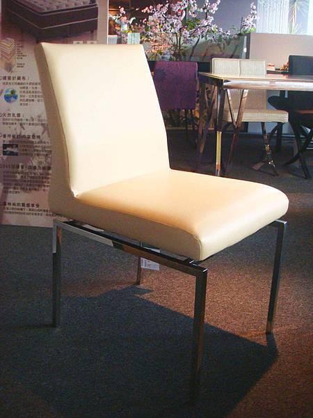娜里妮書餐椅(白)--乳膠皮革+高密度泡棉+鍍鉻鐵管.jpg