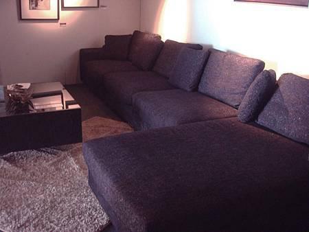 暗紫色金蔥大L型沙發組-類麻布+高密度泡棉.jpg