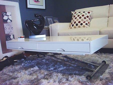 比雅諾鏡面PU白色升降桌--E1纖維板+鏡面PU烤漆+五金抗氧鍍鉻處理.jpg