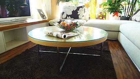 北歐人文-白橡圓型玻璃大茶几(白橡)---實木+白橡木皮.jpg