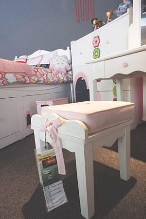 美式風格兒童化妝椅(粉白)-高級MDF+實木製成.jpg