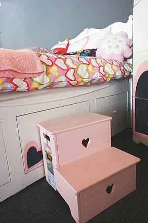 美式風格兒童腳踏凳(粉紅)-高級MDF+實木製成.jpg
