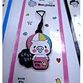 KUSO頑皮豬螢幕擦布手機吊飾2號(粉紅氣球)