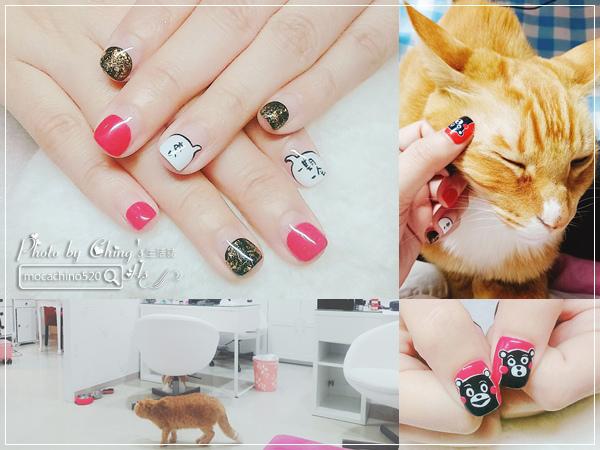 誰說短指甲不能做光療 超可愛熊本熊凝膠美甲在K Nail studio。噗咪美甲設計師 (1).jpg