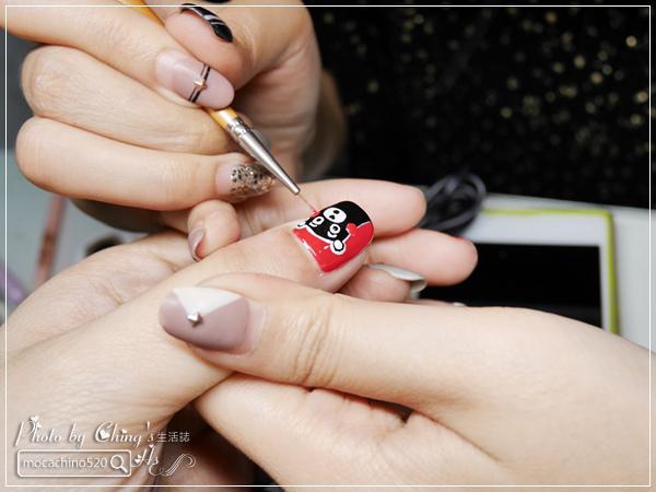 誰說短指甲不能做光療 超可愛熊本熊凝膠美甲在K Nail studio。噗咪美甲設計師 (14).jpg