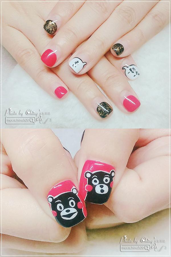 誰說短指甲不能做光療 超可愛熊本熊凝膠美甲在K Nail studio。噗咪美甲設計師 (16).jpg
