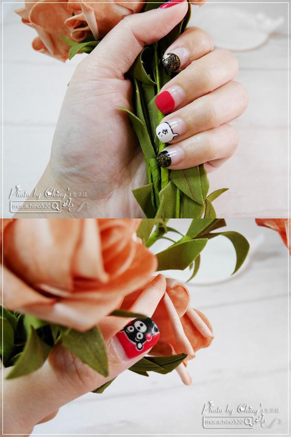 誰說短指甲不能做光療 超可愛熊本熊凝膠美甲在K Nail studio。噗咪美甲設計師 (17).jpg