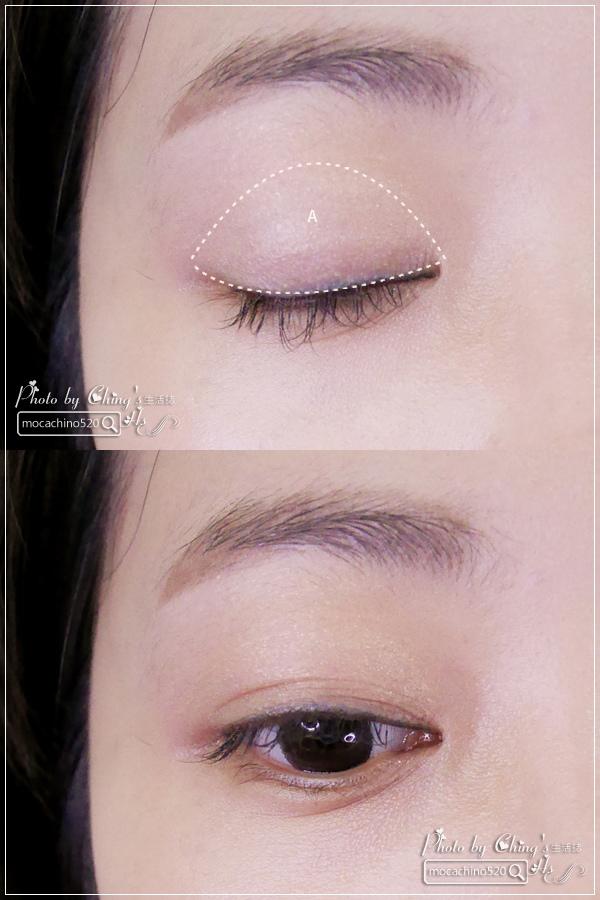 眼睛放大術。質感系眼妝分享。KATE凱婷 奢光燦魅眼影盒、進化版持久液體眼線筆EX (5).jpg