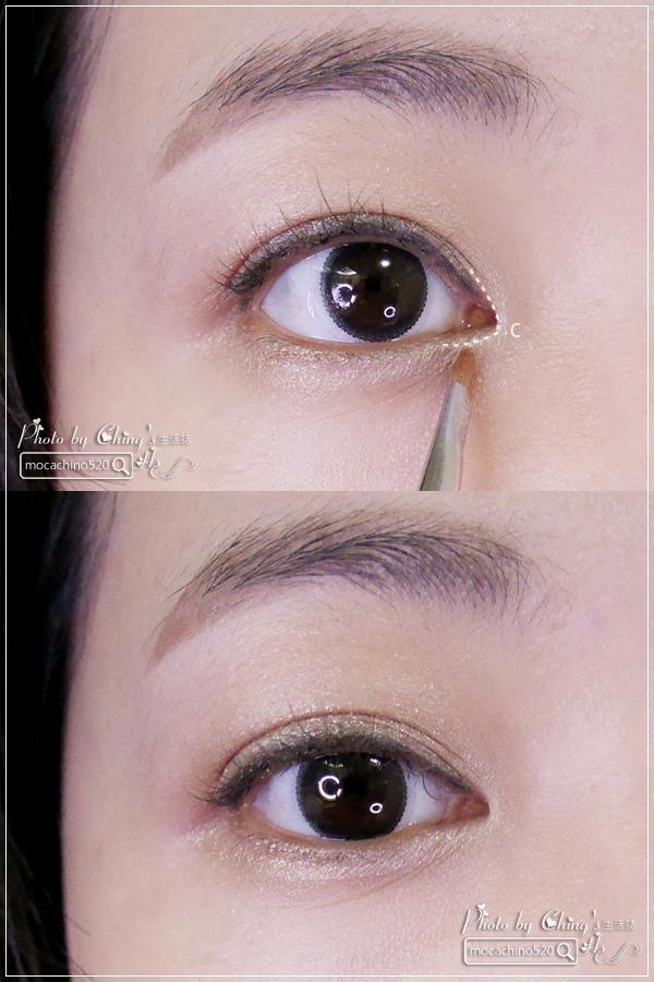 眼睛放大術。質感系眼妝分享。KATE凱婷 奢光燦魅眼影盒、進化版持久液體眼線筆EX (8).jpg