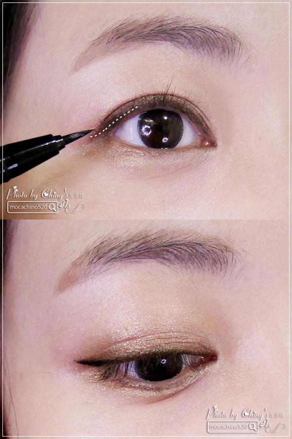 眼睛放大術。質感系眼妝分享。KATE凱婷 奢光燦魅眼影盒、進化版持久液體眼線筆EX (10).jpg