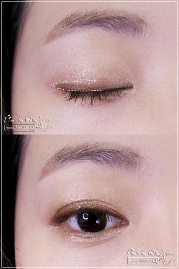 眼睛放大術。質感系眼妝分享。KATE凱婷 奢光燦魅眼影盒、進化版持久液體眼線筆EX (9).jpg