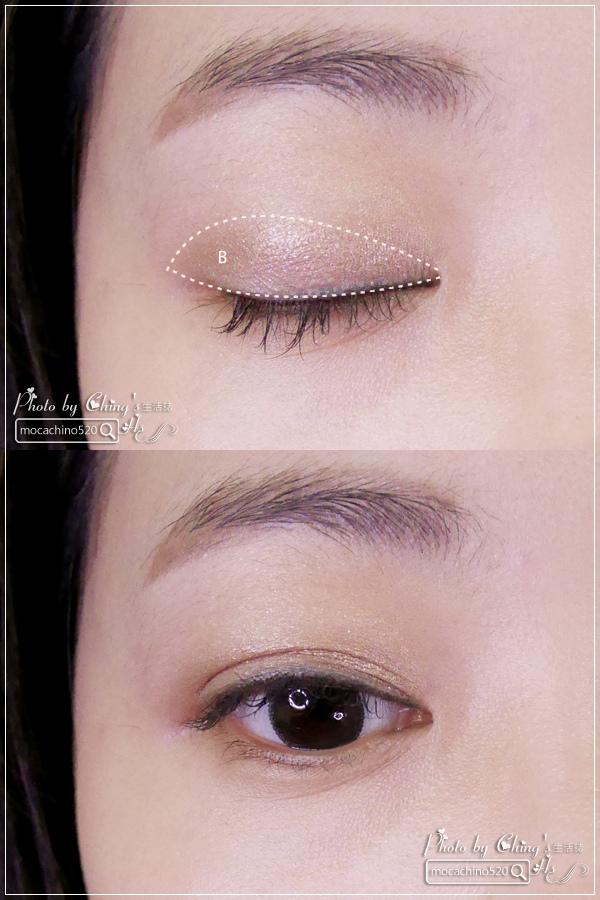眼睛放大術。質感系眼妝分享。KATE凱婷 奢光燦魅眼影盒、進化版持久液體眼線筆EX (6).jpg