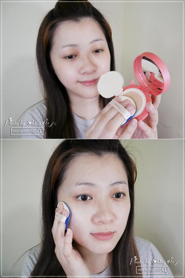 彩色舒芙蕾現在正夯,輕鬆玩色修正美肌。innisfree 超持妝玩色舒芙蕾粉餅 (4).jpg