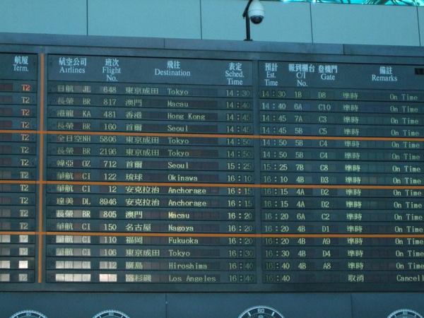機場時刻表