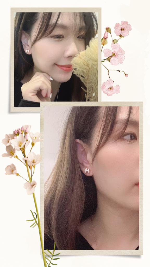 愛馬仕珐瑯耳環 白色.PNG