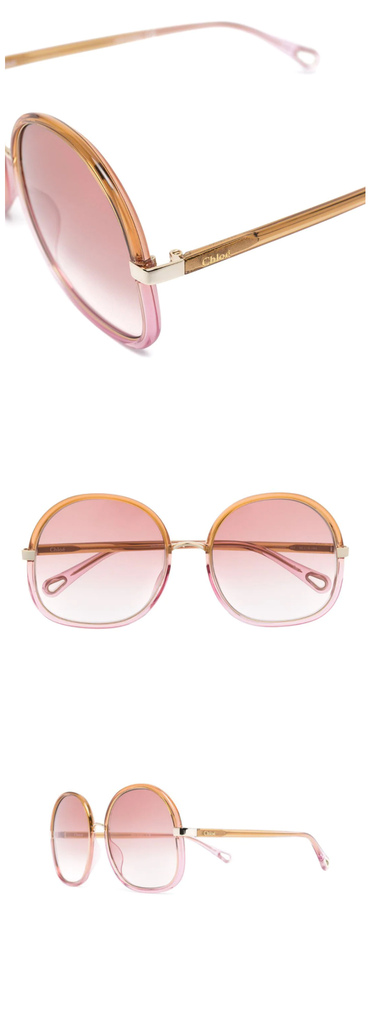 Chloé Eyewear square tinted sunglasses.jpg