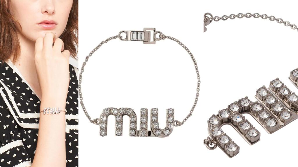 Miu Miu crystal-embellished logo bracelet.jpg