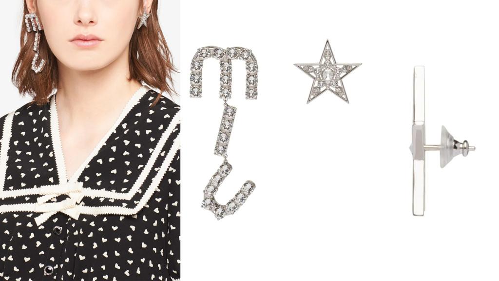 Miu Miu crystal-embellished asymmetric earrings.jpg