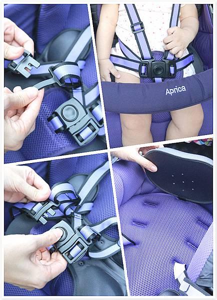 五點式安全帶+三段式肩部調整