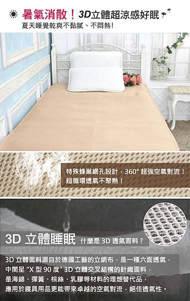 3D立體涼感涼墊